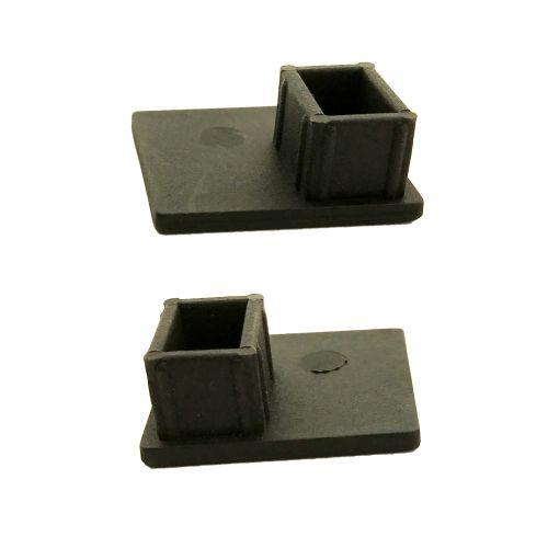 Afdekdoppen zipscreengeleider